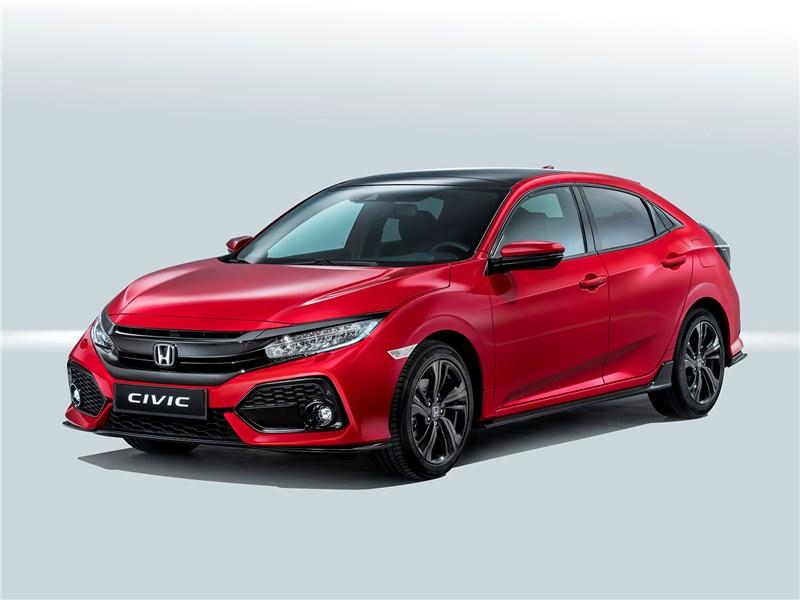 Honda Civic 2017 вид спереди