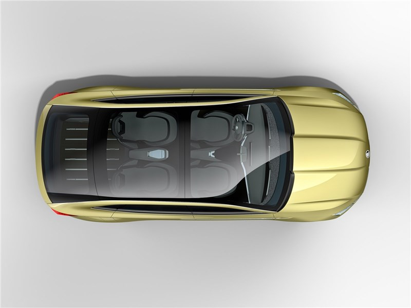 Skoda Vision E Concept 2017 вид сверху