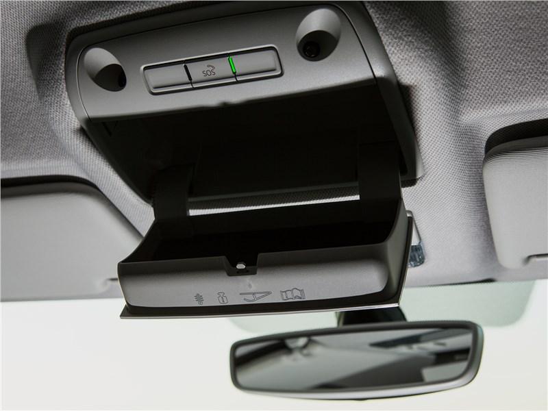 Skoda Rapid 2017 потолочная консоль