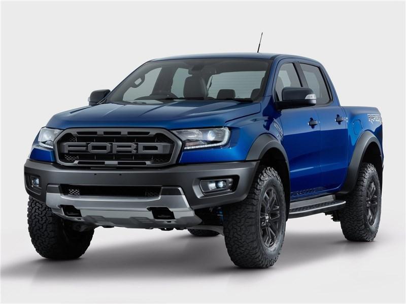 Ford Ranger Raptor 2019 вид спереди сбоку
