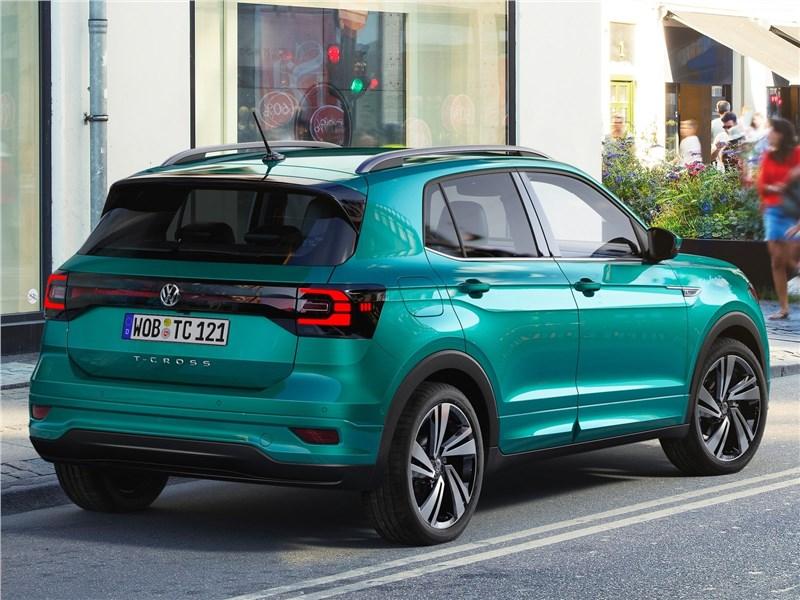 Volkswagen T-Cross 2019 вид сзади сбоку