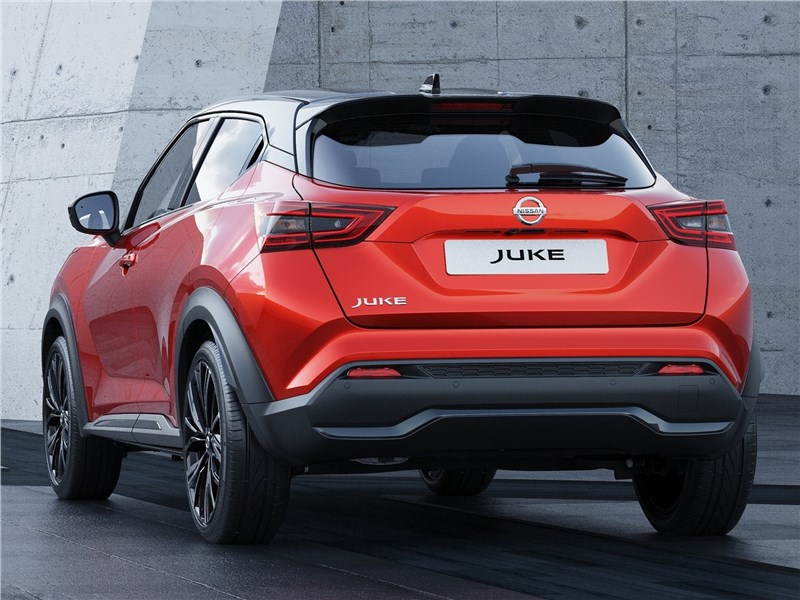 Nissan Juke 2020 вид сзади