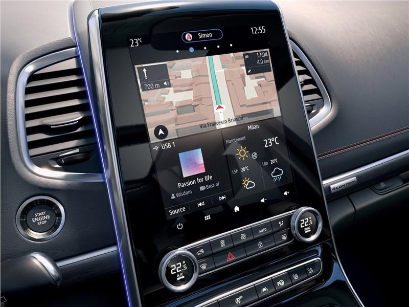 Renault Espace 2020 центральная консоль