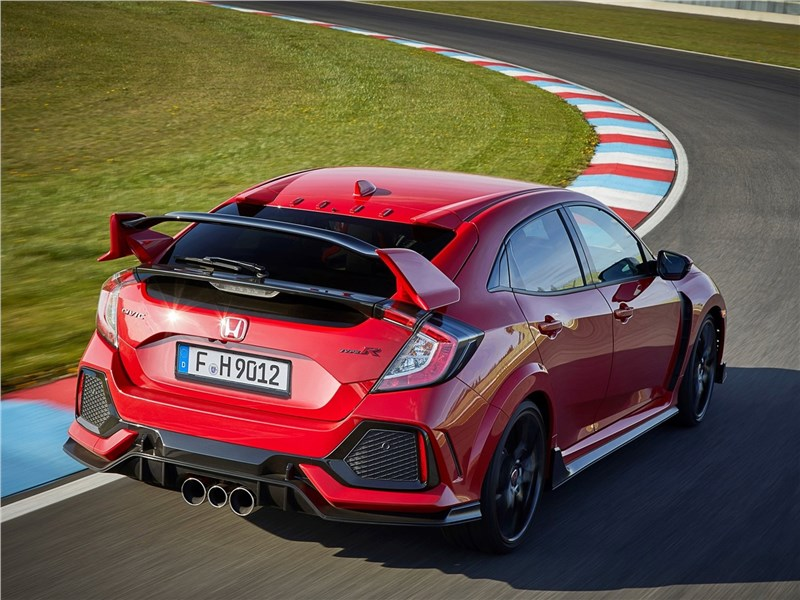 Honda Civic Type R 2018 вид сзади
