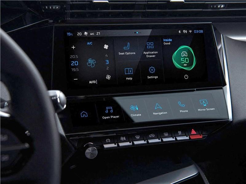 Peugeot 308 (2022) центральная консоль