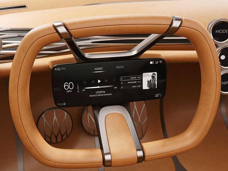 В Hyundai работают над рулевым колесом с дисплеем