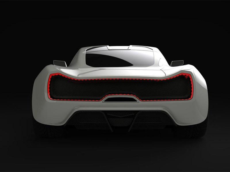 Trion SuperCars Nemesis 2015 вид сзади белый