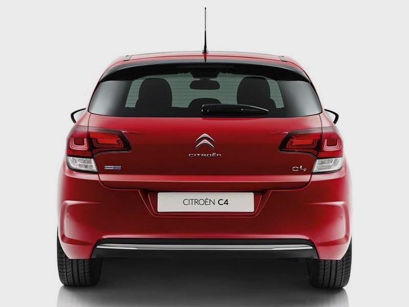 Citroen C4 2015 вид сзади