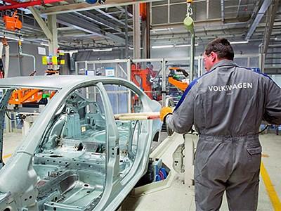 Калужский завод Volkswagen приостановил сборку своих автомобилей