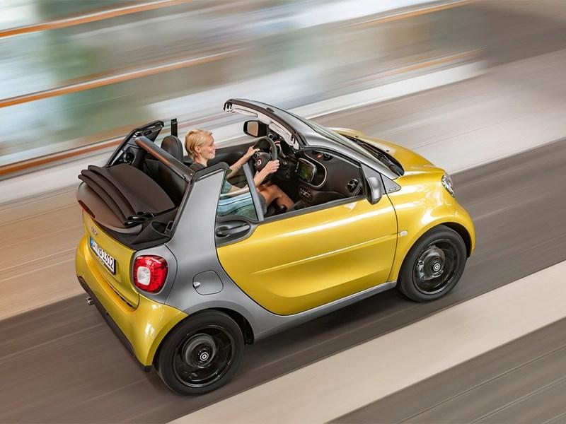 Smart ForTwo Cabrio 2016 вид сверху