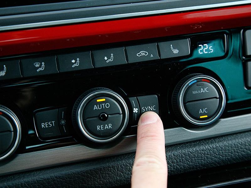 Volkswagen Multivan 2015 управление климатом