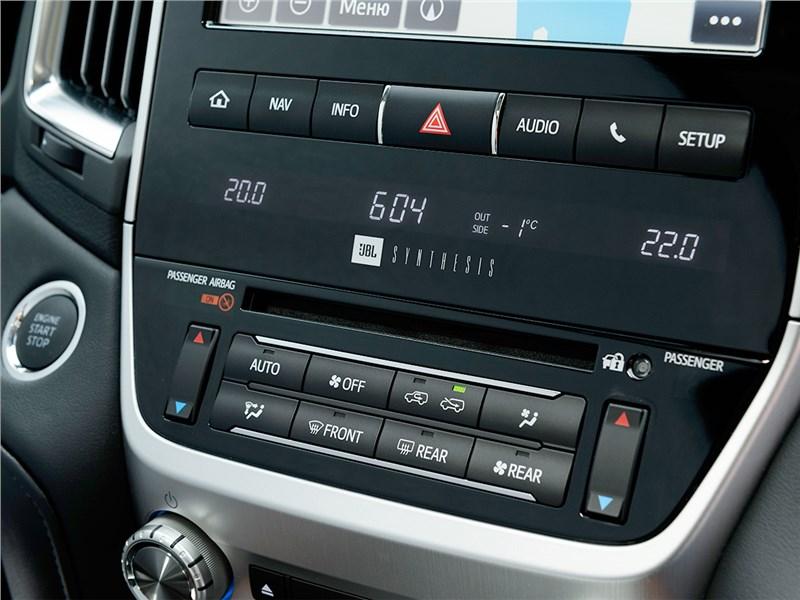 Toyota Land Cruiser 2016 центральная консоль