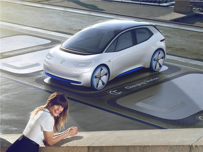 Volkswagen I.D. concept 2016 вид спереди сверху