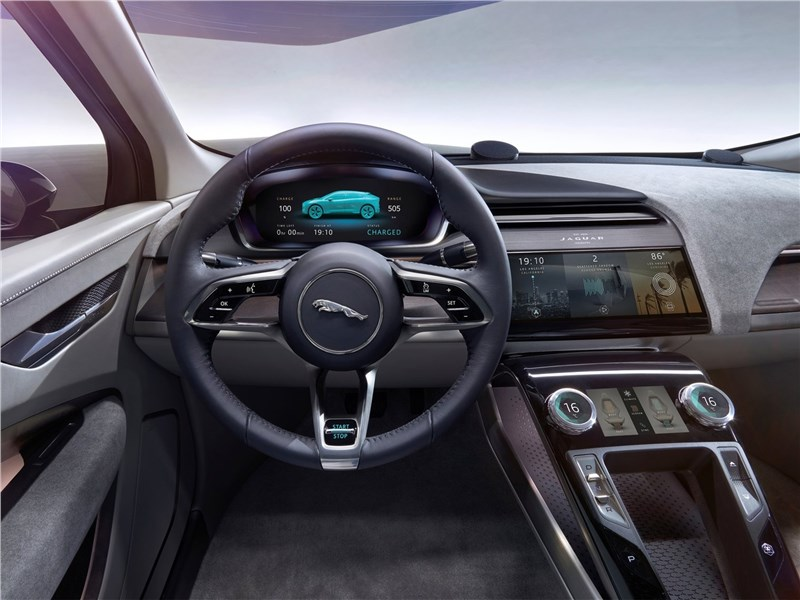 Jaguar I-Pace Concept 2016 водительское место