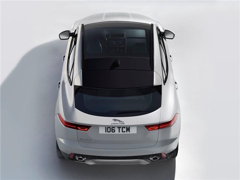 Jaguar E-Pace 2018 вид сверху сзади