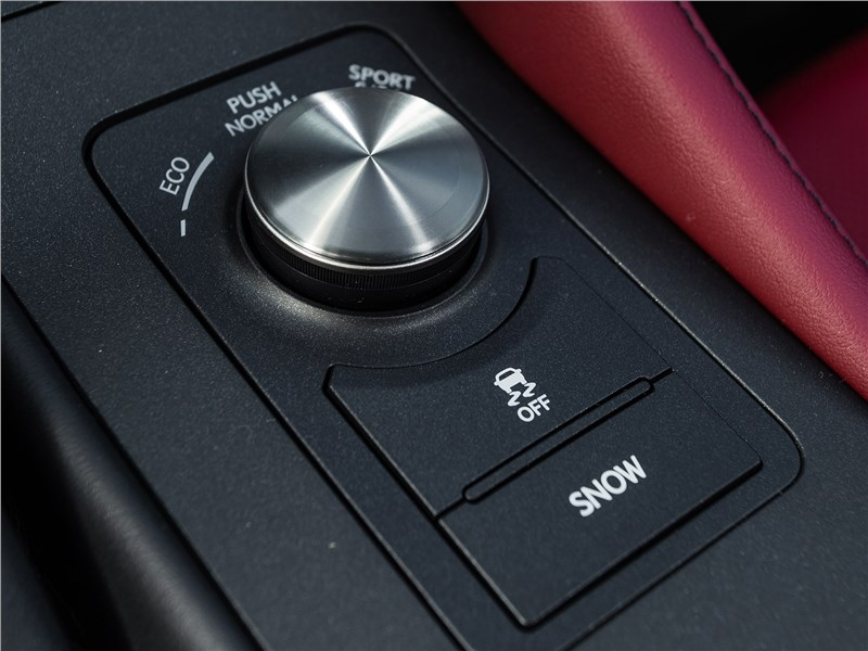 Lexus RC 2015 шайба выбора режимов движения