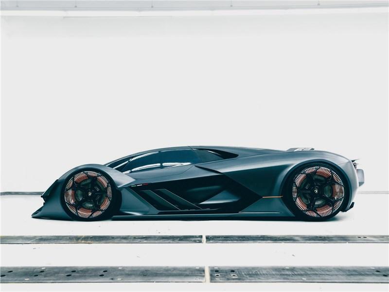 Lamborghini Terzo Millennio Concept 2017 вид сбоку
