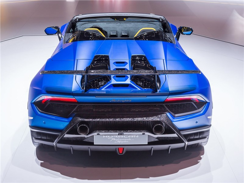 Lamborghini Huracan Performante Spyder 2019 вид сзади
