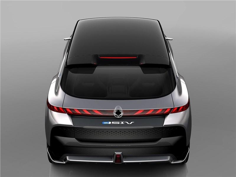 SsangYong e-SIV EV Concept 2018 вид сзади сверху
