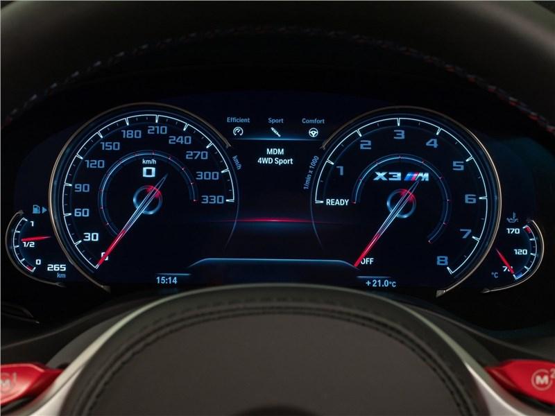 BMW X3 M Competition 2020 приборная панель