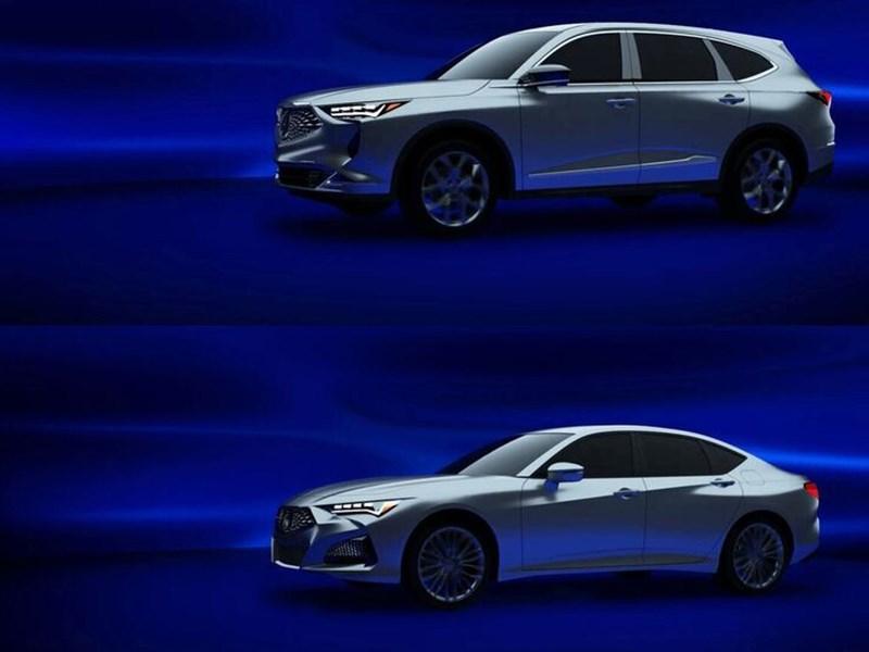 Раскрыта внешность новых Acura MDX и TLX
