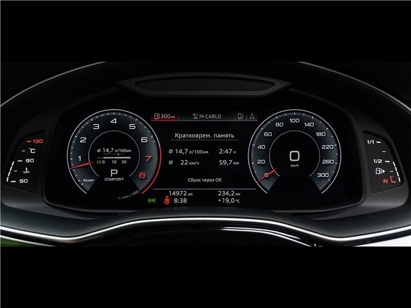 Audi Q8 2019 приборная панель