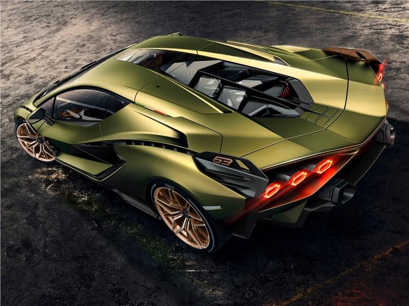 Lamborghini Sian 2020 вид сверху сзади