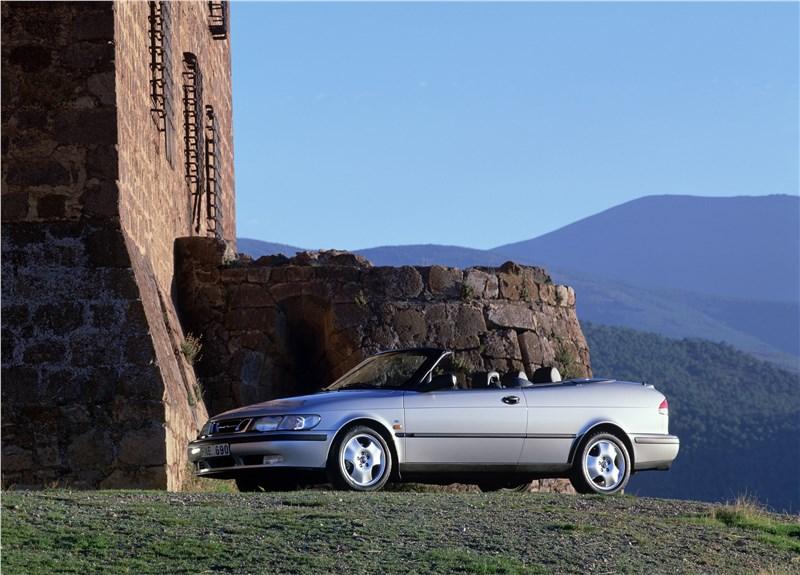 Saab 9-3 2001 кабриолет вид справа