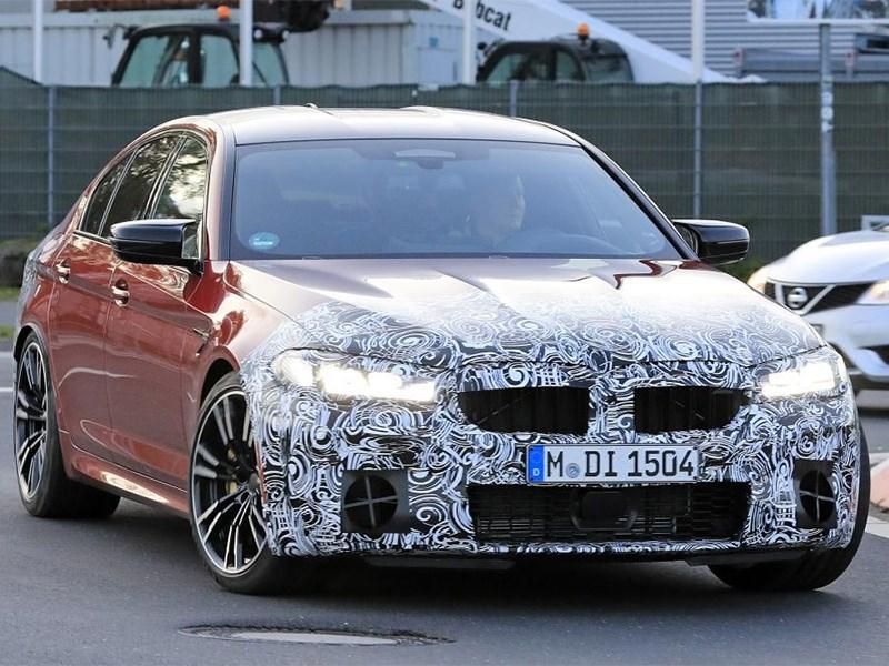 BMW вывела на тесты новую M5