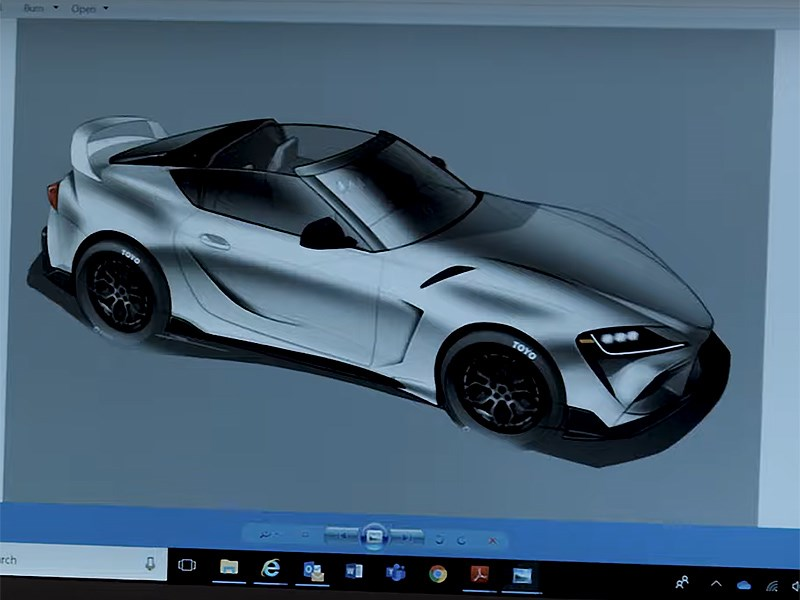Спорткар Toyota Supra получит кузов тарга ради тюнинг-шоу SEMA