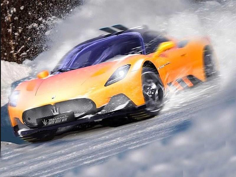 Maserati превратила суперкар MC20 в покорителя снегов