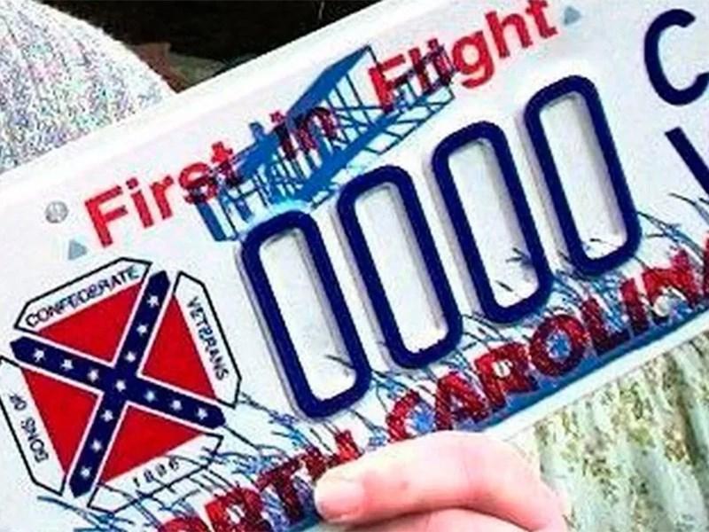 В США запретили флаг конфедератов на автомобильных номерах