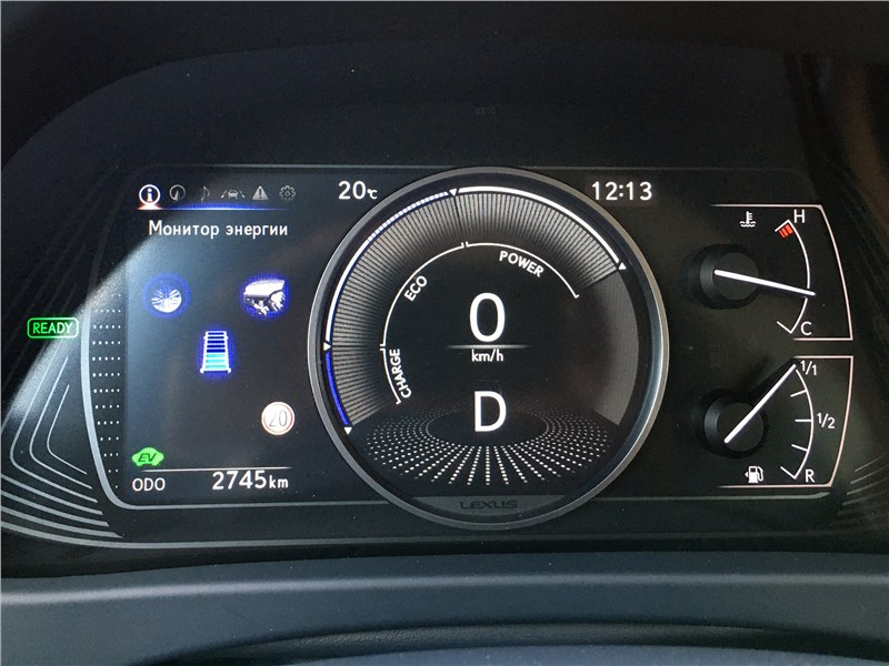 Lexus UX 250H (2019) приборная панель