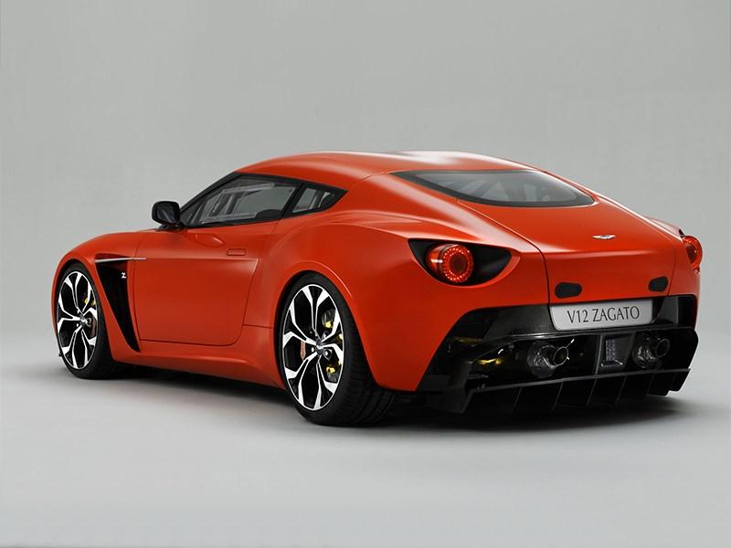Aston Martin V12 Zagato 2012 вид сзади
