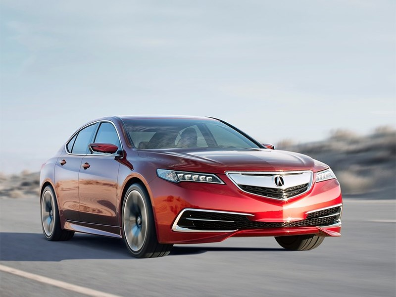 Новый Acura TLX - Acura TLX concept 2014 вид спереди