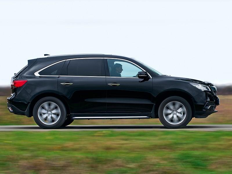 Acura MDX 2014 вид сбоку черная