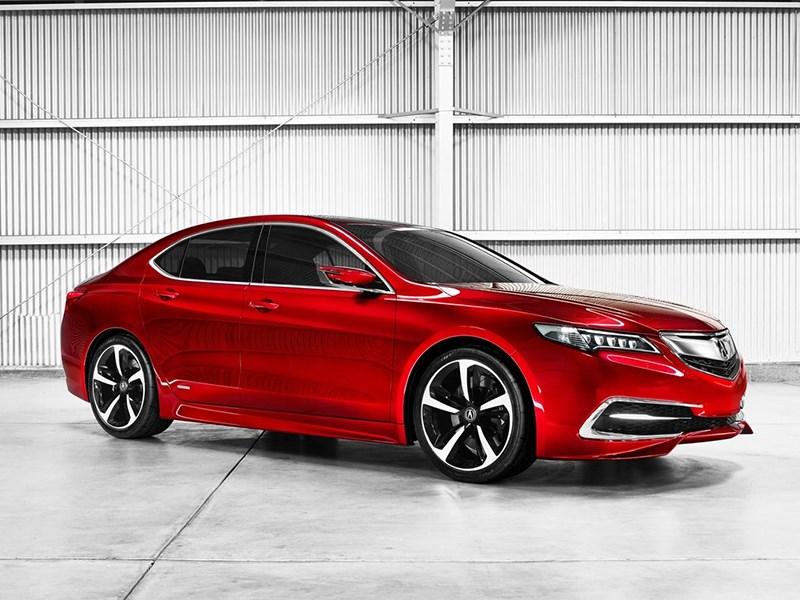 Acura TLX concept 2014 вид спереди сбоку