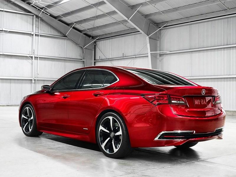 Acura TLX concept 2014 вид сзади сбоку