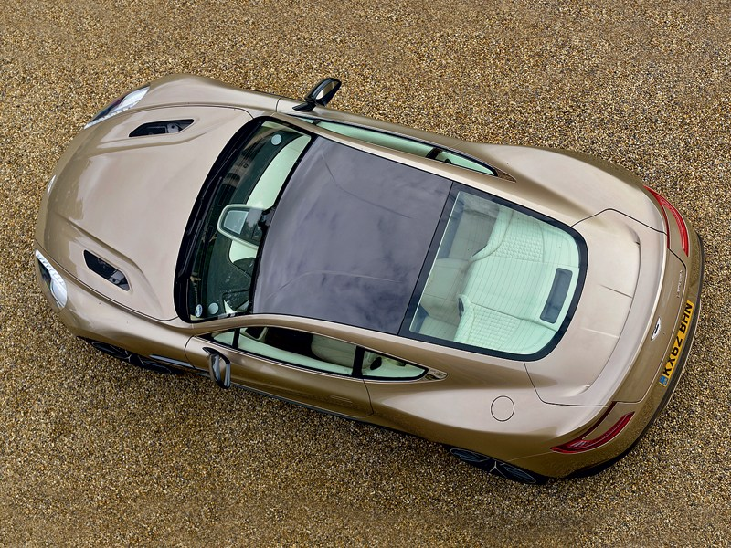 Aston Martin Vanquish 2013 вид сверху