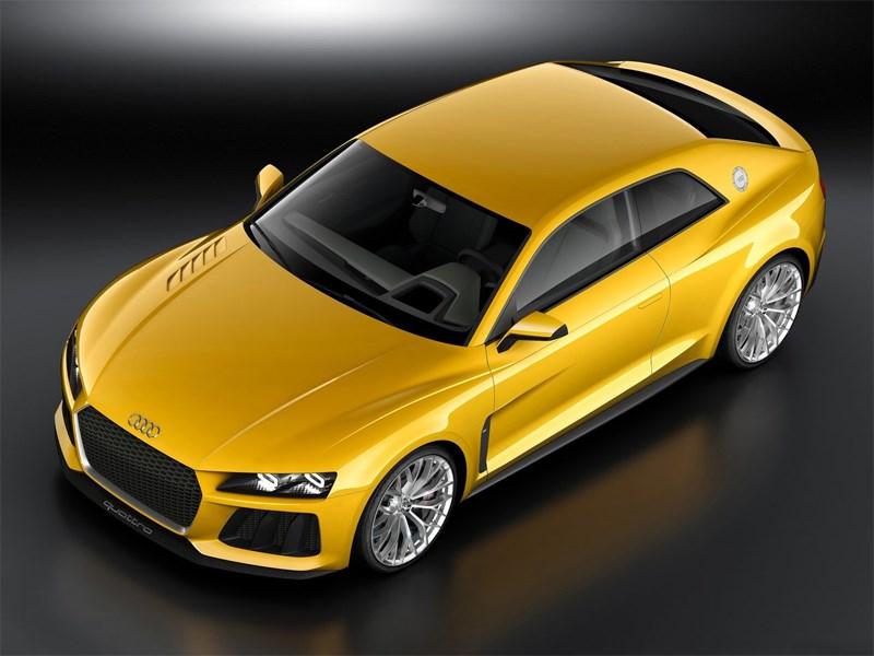 Audi Sport quattro Concept 2013 вид спереди сверху
