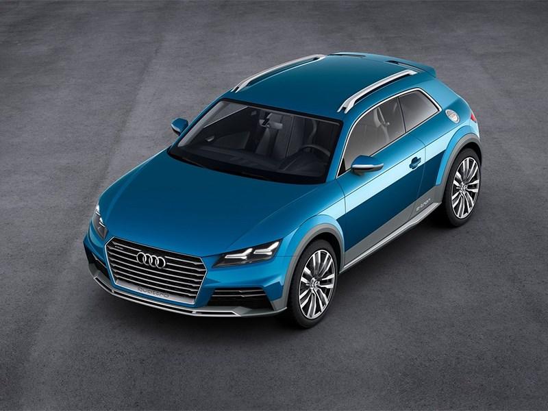 Audi Allroad Shooting Brake Concept 2014 вид спереди сверху