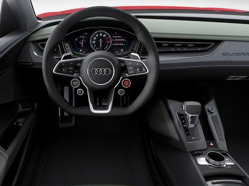Audi Sport quattro Laserlight Concept 2014 водительское место