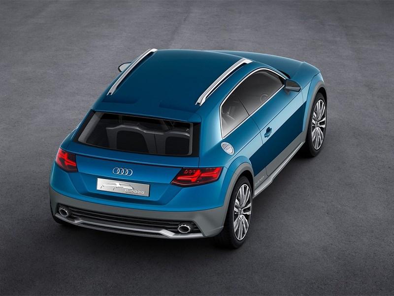 Audi Allroad Shooting Brake Concept 2014 вид сзади сверху