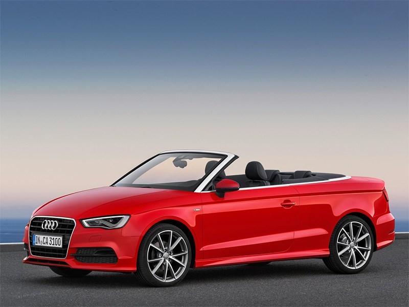 Audi A3 Cabriolet 2013 вид сбоку 3/4