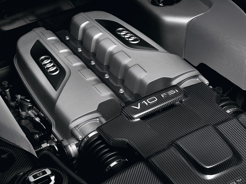 Audi R8 2013 двигатель