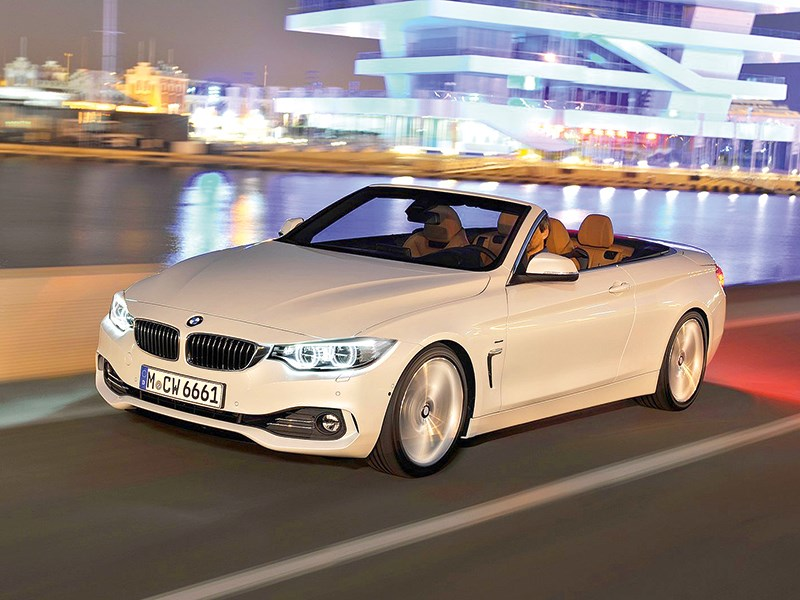 BMW 4-series Cabriolet 2013 вид сбоку 3/4