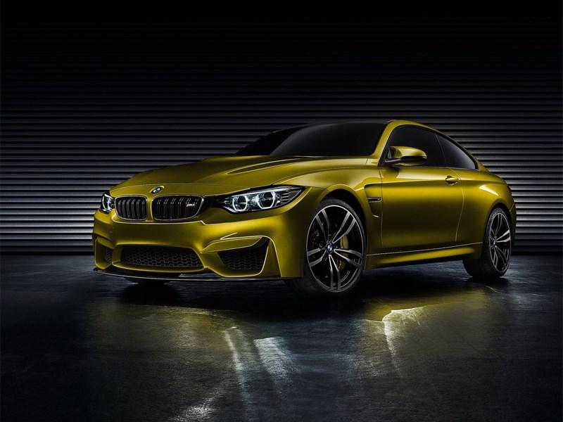 Новый BMW M4 - BMW M4 concept 2013 вид спереди 3/4