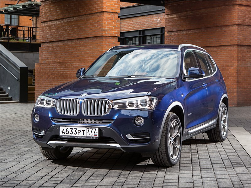 BMW X3 30d 2015 вид спереди