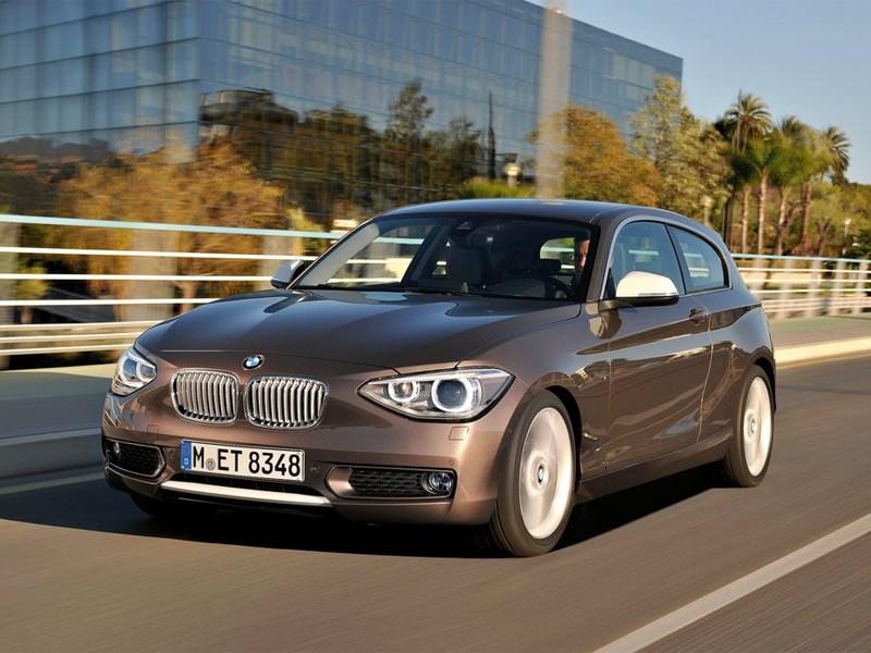 Новый BMW 1 series - BMW 1 series 2013 вид спереди