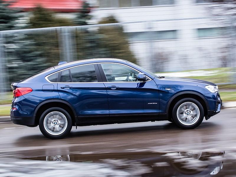 BMW X4 2014 вид сбоку